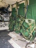 Внутри зада голландского военного транспортного средства Стоковые Фото