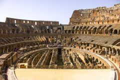 Внутри известного Colosseum стоковая фотография rf