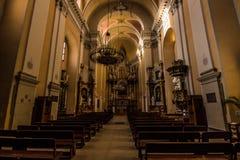 Внутри литовской церков, Литва стоковые изображения rf
