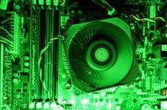 Внутри компьютера стоковая фотография rf