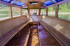 Внутри корабля на озере стоковое изображение rf