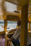 Внутри корабля на озере стоковые фото