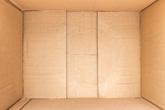 Внутри коричневых предпосылки и текстуры картонной коробки Стоковое Изображение RF