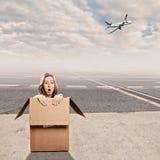 Внутри коробки на авиапорте Стоковые Фото