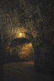 Внутри королевской башни в крепости Oreshek около Shlisselburg, Россия Стоковое фото RF