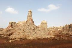 Внутри кратера взрыва вулкана Dallol, депрессия Danakil, Эфиопия Стоковые Изображения RF