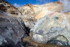 Внутри кратера вулкана Mutnovsky Стоковое Изображение RF