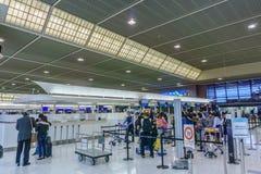 Внутри крупного аэропорта 2 Narita Стоковая Фотография