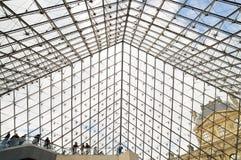 Внутри Лувра (Musee du Жалюзи) Стоковые Изображения RF