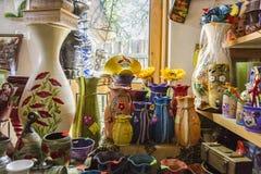 Внутри магазина в Horezu Стоковое Изображение RF