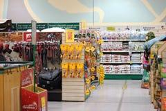 Внутри магазина любимчика. Стоковое Изображение RF