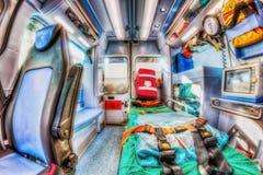 Внутри машины скорой помощи Версия HDR Стоковое Изображение