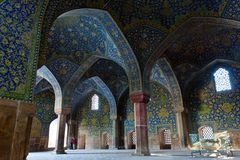 Внутри мечети в Esvahan Стоковое фото RF
