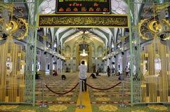 Внутри мечети Сингапура султана Стоковая Фотография