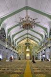 Внутри мечети Сингапура султана Стоковые Изображения