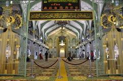 Внутри мечети Сингапура султана Стоковые Фотографии RF
