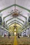Внутри мечети Сингапура султана Стоковое Фото