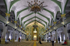 Внутри мечети Сингапура султана Стоковое Изображение RF