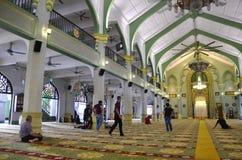 Внутри мечети Сингапура султана Стоковая Фотография RF