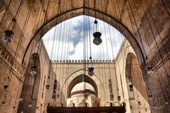 Внутри мечети султана Hasan Стоковые Фото