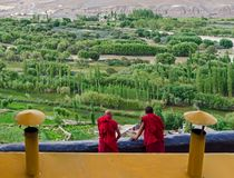 Внутри монастыря Spituk, Джамму и Кашмир стоковые фото