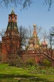 Внутри Москвы Кремля, Москва, русский город Вашингтон, Российская Федерация, Россия Стоковые Изображения