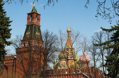 Внутри Москвы Кремля, Москва, русский город Вашингтон, Российская Федерация, Россия Стоковое Изображение RF
