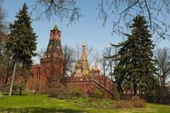 Внутри Москвы Кремля, Москва, русский город Вашингтон, Российская Федерация, Россия Стоковое фото RF
