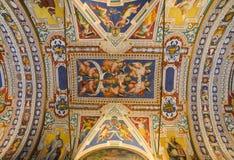 Внутри музеев Ватикана стоковое фото