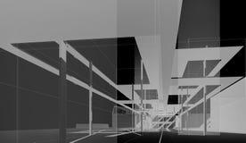 Внутри музея в национальной академии изящного искусства и архитектуры (проект концепции) Стоковые Изображения