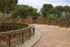 Внутри парка Guell в Барселоне стоковое изображение