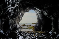Внутри пещеры моря Стоковое Изображение RF