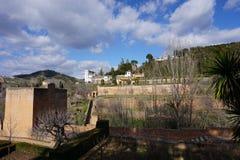 Внутри предел Альгамбра, Гранада, Испания стоковые фотографии rf