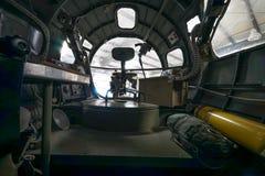 Внутри самолета Вторая мировой войны Стоковое Изображение