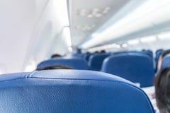 Внутри самолета запачканный метод Стоковое Изображение RF