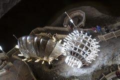 Внутри солевого рудника Стоковое Фото