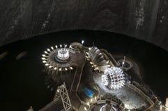 Внутри солевого рудника Стоковая Фотография RF