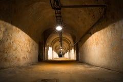 Внутри старого промышленного здания, подвал Стоковая Фотография