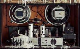 Внутри старого радио Стоковая Фотография RF