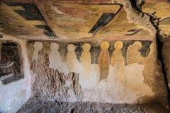 Внутри Утес-срубленных церков Иванова стоковые изображения
