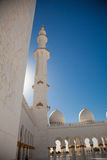 Внутри шейха Zayed Мечети в Abu Dhabi Стоковая Фотография