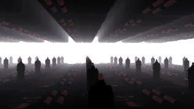 Внутри 3D анимации космического корабля иллюстрация вектора