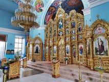 Внутри interier собора Svyato-Pokrovskyy стоковая фотография rf