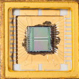 Внутри microprochip Стоковые Фото