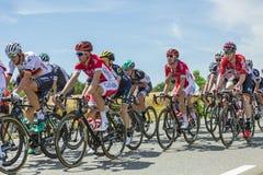 Внутри Peloton - Тур-де-Франс 2017 Стоковая Фотография