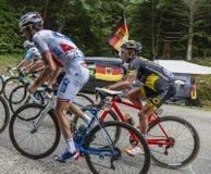 Внутри Peloton - Тур-де-Франс 2017 стоковое фото rf