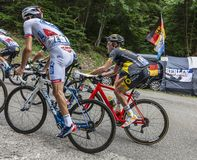 Внутри Peloton - Тур-де-Франс 2017 стоковое изображение rf