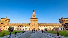 Внутри Sforza Castel в милане, Италия Стоковые Изображения RF
