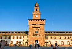 Внутри Sforza Castel в милане, Италия Стоковое Фото