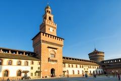 Внутри Sforza Castel в милане, Италия Стоковая Фотография RF